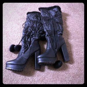 shoe*dazzle black boot heels